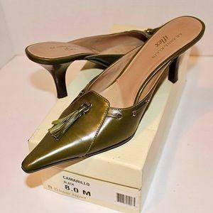 AK Green w/ Tassel Pointed Flat Heel iflex